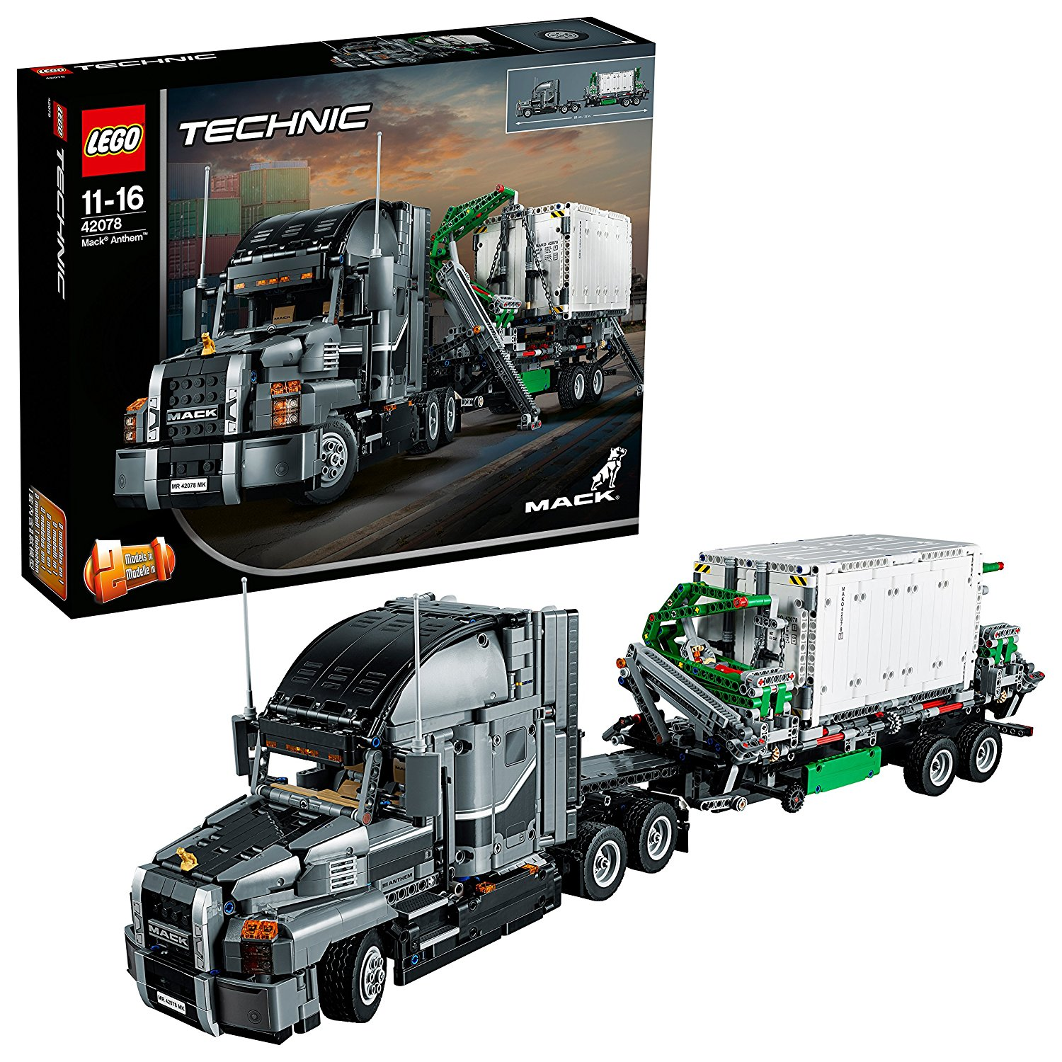 LEGO Technic Mack Anthem Semi Truck Building Kit and Engineering Toy for Kids and Teenagers, Top Gifts for Boys ( Piece).